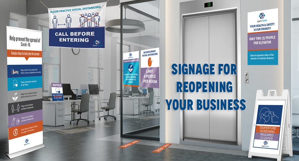 Signage for Reopening Your Business